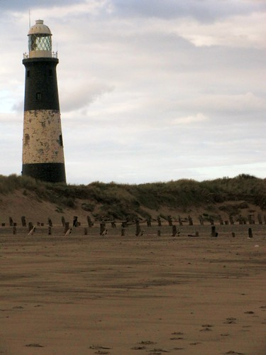 Old lighthouse and beach Spurn Point