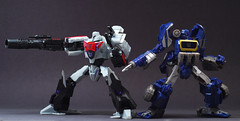 Soundwave and Megatron