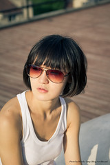 End of day (Woods | Damien) Tags: china portrait people girl sunglasses glasses soleil shanghai chinese   abattoir lunettes chine slaughterhouse 1933 suellen  hongkou   sigma1850f28exdcmacro canoneos60d