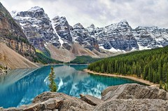 Moraine Lake, Alberta (AnitaErdmann) Tags: blue lake nationalpark nikon alberta banff glacial morainelake d300 notanhdr nikond300 anitaerdmann 18september2010 photocontesttnc11