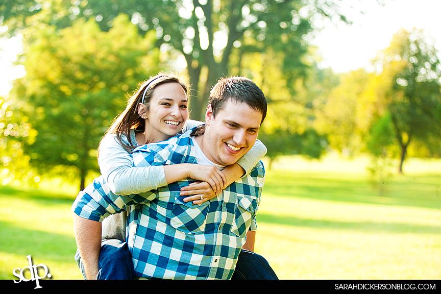 Loose Park Kansas City Missouri engagement session
