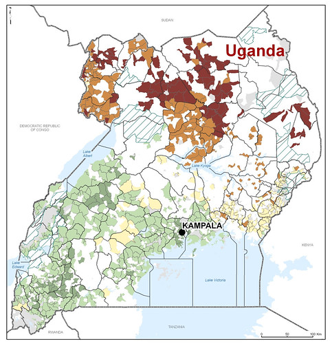 Map Showing Economic Opportunities for Poor Livestock Farmers in Uganda