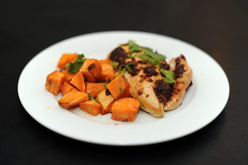 Spiced Chipotle Honey Chicken Breasts with Sweet Potatoes « Sassy ...