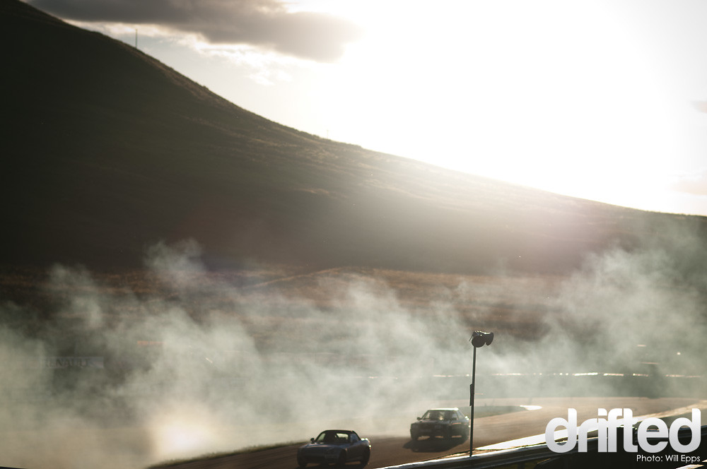 smoke drifting knockhill