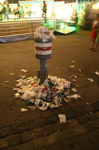 Keine Mülleimer
