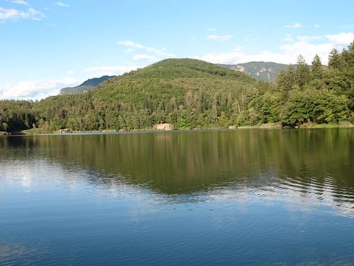 Blick auf den großen Montiggler See in Richtung Norden