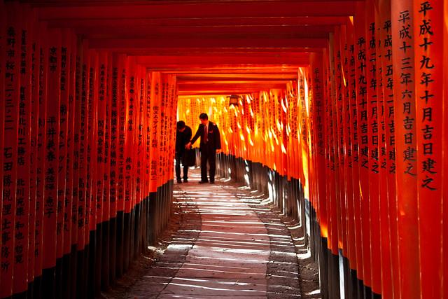 Fushimi Inari taisha toriis, Kyoto, Japan / Japón