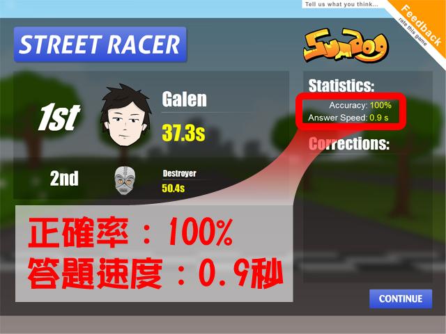 Sumdog數學遊戲網站─成績統計