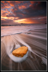 Chocolate Orange (greyridge) Tags: longexposure orange sunrise blacksand wave seaham blastbeach eos1000d