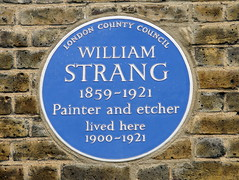 Photo of William Strang blue plaque