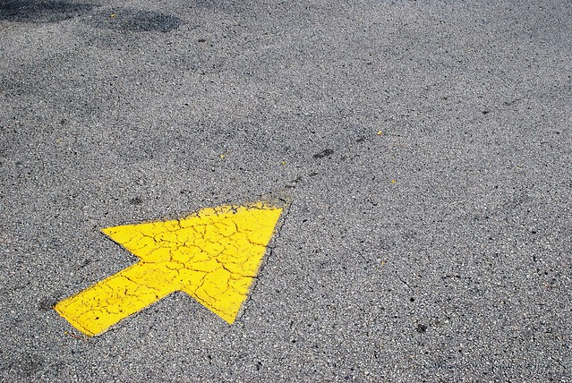 A yellow arrow pointing into the frame.