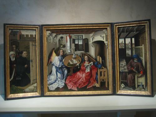 Annunciation Triptych (Merode Altarpiece), South Netherlands (modern Belgium), Tournai, c. 1427-32, Workshop of Robert Campin _7829