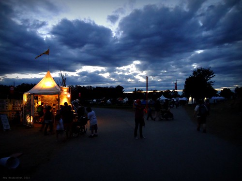 dusk at the fair
