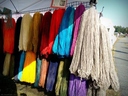 oh, that aqua yarn