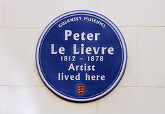 Photo of Peter Le Lievre blue plaque