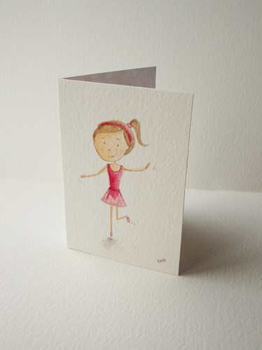 Ballerina thank you card