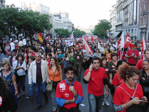 huelga general - manifestación en madrid