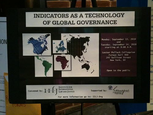Indicators as a Technology of Global Governance, conference at NYU Law School