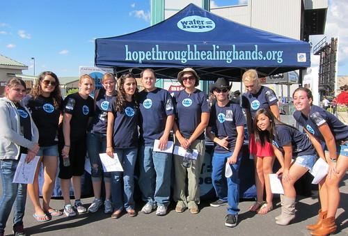 Excited Water = Hope volunteers!