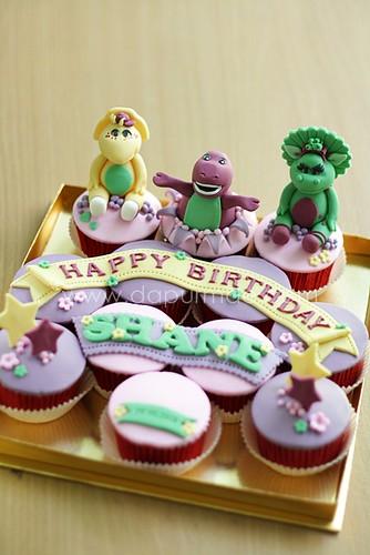 Barney Cupcake Set - Nora