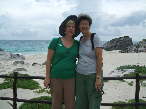 Mom and me at Tulum