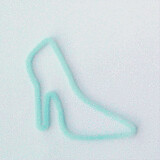 Shaped rubber bands: high heel shoe blue