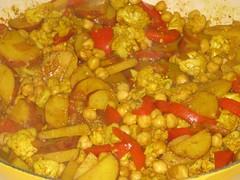 Chickpea, cauliflower, potato mix