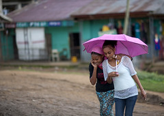 Teenager girls sheltering under an umbrella, Ethiopia (Eric Lafforgue) Tags: africa people colour rain horizontal youth umbrella outside outdoors person pluie teenagers jeunesse ethiopia personne humanbeing adolescentes tribo parapluie afrique dehors eastafrica thiopien etiopia abyssinia ethiopie etiopa exterieur waistup 4384 abyssinie  vueexterieure coloredpicture etiopija ethiopi  photocouleur etiopien etipia  etiyopya  afriquedelest alataille etrehumain         peoplesoftheomovalley peuplesdelavalleedelomo colouredpicture cadragealataille