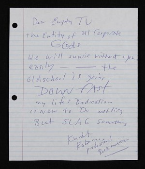 Kurt Cobain'S Prophetic Unsent Letter To Mtv [Pic]