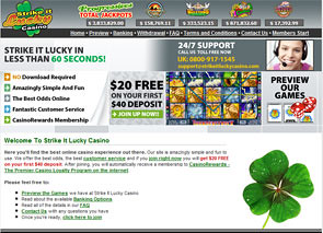Strike It Lucky Casino Home