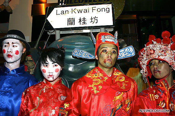 Oriental ghosts at Lan Kwai Fong!