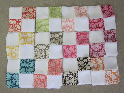 Henna Garden Quilt - 4 patch blocks