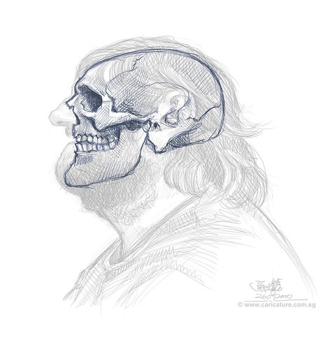 Schoolism Assignment 6 - sketch 1 of Hugo skull