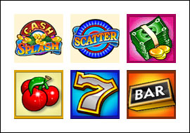 free Cash Splash 5-Reels slot game symbols