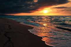 sunset at badesi mare (Dennis_F) Tags: italien light sunset red sea sky italy orange reflection rot beach clouds strand reflections landscape reflecting licht meer wasser mare waves sardinia sonnenuntergang angle cloudy sony wide wolken wideangle foam 1750 dslr tamron landschaft sonne spiegelung sardinien schaum wellen wolkig a700 badesi tamronlens tamron1750 sonyalpha sonydslr badesimare tamron175028 alpha700 sonya700 sonyalpha700 dslra700 tamronobjektiv