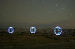 o o o (Ningaloo.) Tags: light night circle nikon long exposure fort wand vale led le stick guernsey 12345 marchant d5000