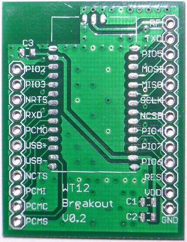 Bluegiga WT12 Breakout Board V0.2