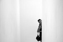 with a beautiful smile... (...storrao...) Tags: blackandwhite bw portugal smile museum stairs nikon museu noiretblanc retrato corridor nb bn porto corredor maree escadas serralves pretobranco d90 storrao sofiatorro nikond90bw mareevisitingporto withmareeatserralves