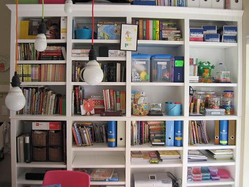 shelves of learning