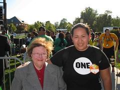 Nancy D. with Sen. Mikulski