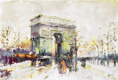 Arc de Triomphe (piker77) Tags: painterly paris france art architecture digital photoshop watercolor painting interesting media natural aquarelle digitale manipulation simulation peinture illusion virtual watercolour transparent acuarela tablet technique wacom stylized pintura imitation  aquarela aquarell emulation malerei pittura virtuale virtuel naturalmedia urbanpics    piker77wc arthystorybrush