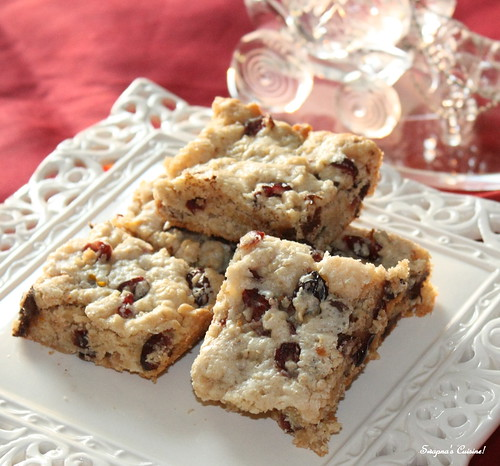 Chocolate, Cranberry & Oat Bars
