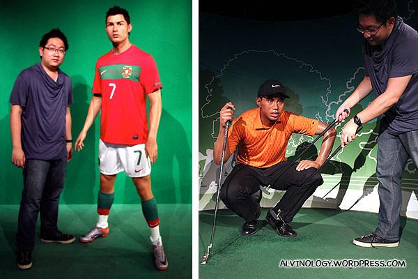 Cristiano Ronaldo and Tiger Woods