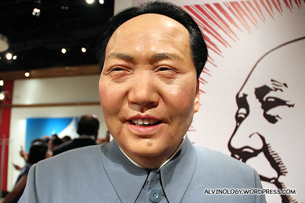 Mao Zedong is very happy to see me