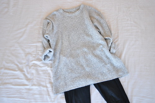 vintage oversized gray sweater tunic