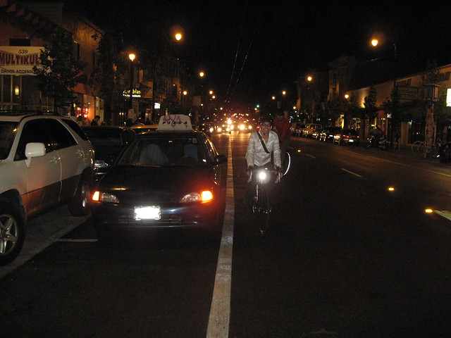 I parked in the bike lane, and they didnt like it