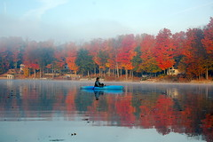 A morning on the water (WilliamMarlow) Tags: fall water october kayak michigan lansing cc creativecommons 2010