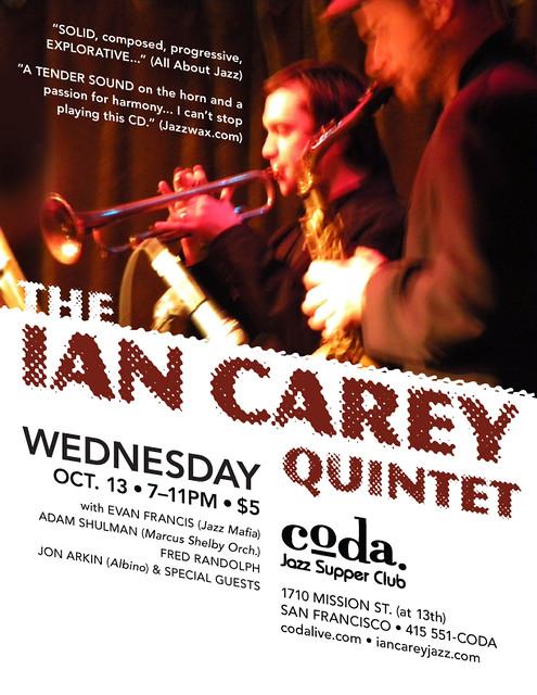 Ian Carey Quintet @ Coda - 10/3