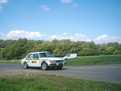 Saab 99 Turbo at Kleine Platte (74Mex) Tags: old deutschland rally slowly platte timer sideways 2010 historics kleine panzerplatte moselland moselwein