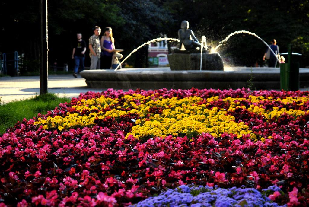 fontanna w Pasażu Rubinsteina